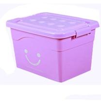 鲁凤来 收纳箱特大号收纳盒 塑料加厚衣物整理箱衣服被子(4个滑轮)10个装