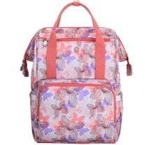 爱华仕 爱华仕(OIWAS)多功能大容量双肩包母婴包时尚背包手提 4370桔粉色 桔粉色-妈咪版