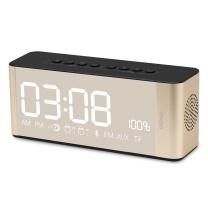 伊酷尔 伊酷尔 (ifkoo)D3 土豪金 智能时间闹钟无线蓝牙音箱重低音炮手机电脑电视LED显示屏便携式迷你小音响 土豪金