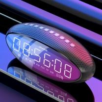伊酷尔 伊酷尔(IFKOO) Q3蓝牙音箱台式机电脑超重低音炮大音量车载手机家用电视智能闹钟收音机迷你小音响 灰色-双大喇叭+低音振摸+超长待机 灰色-双大喇叭+低音振摸+超长待机