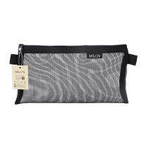晨光 M&G 晨光(M&G)透明网纱笔袋黑色1个装APB95494 中号黑色