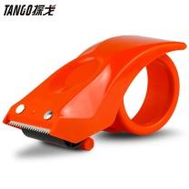 天章龙 Tango 天章办公(TANGO) 探戈金属刀口封箱器/打包器/胶带底座/胶带切割器(适用胶带宽度60mm) 不锈钢刀口 橙色 金属封箱器60mm