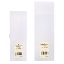 晨光 M&G 晨光(M&G)文具本味系列多功能笔盒简约收纳盒文具盒 2个装ASB92302 套组磨砂白