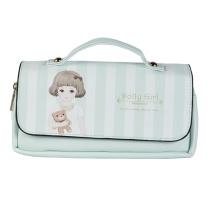 晨光 M&G 晨光(M&G)Dolly girl手提式粉绿色三层笔袋 大容量收纳袋APBN3484 手提式 粉绿
