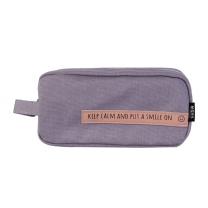 晨光 M&G 晨光(M&G)文具smile系列紫色大方形笔袋文具盒大容量收纳袋 单个装APBN3679 大方形 紫色