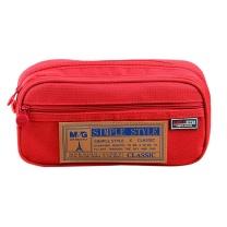 晨光 M&G 晨光(M&G)文具红色多功能多层大号笔袋文具盒铅笔收纳袋 单个装APB93598 红