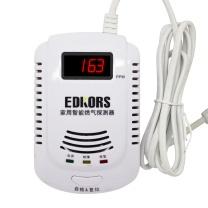 爱德克斯 爱德克斯 EDKORS 燃气报警器家用液化气管道煤气天然气一氧化碳可燃气体泄漏探测器 带语音显示款 JKD-808L 燃气报警器带显示