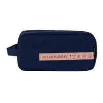 晨光 M&G 晨光(M&G)smile系列深蓝色大方形笔袋大容量收纳袋 APBN3679 大方形 深蓝色