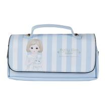 晨光 M&G 晨光(M&G)Dolly girl手提式粉蓝色三层笔袋 大容量收纳袋APBN3484 手提式 粉蓝