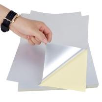 力武 A4透明不干胶打印纸 哑银PP合成纸 PET撕不烂 UV涂层防水刮不掉喷墨激光打印 【激光打印 刮不掉】亚银不干胶打印纸50张/包 【激光打印 刮不掉】亚银不干胶打印纸50张/包